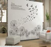 Wall Sticker Dandelion Taraxacum Birds Lobby Living Room Bedroom Decal Home Deco