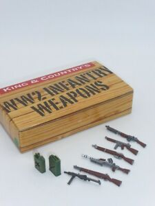 King & Country DD290 WWII Allied Weapons Set, Painted Metal Items. Scale 1:30