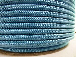 "1/2"" x 50 ft.Premium Double Braid-Yacht Braid Polyester Rope.Light Blue"