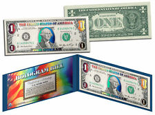DELUXE MULTI-COLOR HOLOGRAM Legal Tender U.S. $1 Bill Currency *Limited Edition*