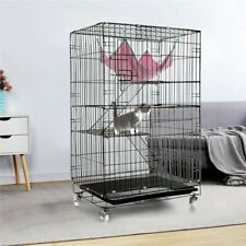 3 Tier Cat Cage Large Playpen Chinchilla Rat Box Pet Enclosure With Ladders