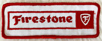 VTG 70s 80s FIRESTONE TIRES Embroidered Patch Sew On Automotive Auto Mechanic