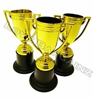 1,12,24&48 Mini Golden Trophy Football Soccer Cup Prize Award Party Bag Filler