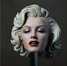 Custom 1/6 Scale Marilyn Monroe Head Sculpt for Custom Hot Toys Phicen in stock