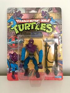 "Teenage Mutant Ninja Turtles Foot Soldier 1988 Vintage ""10 Back"" MOC MISB BNIB"