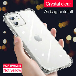 Soft Shockproof Transparent Silicone Phone Case For iPhone 13 Pro Max 12 11 X XR