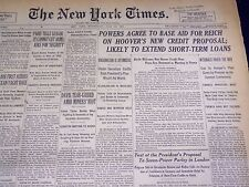 1931 JULY 22 NEW YORK TIMES - POWERS AGREE TO REICH LOAN - NT 3935