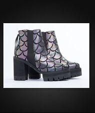 BLACK MILK CLOTHING SOLESTRUCK JOVY-ANNE  Mermaid Chameleon Heel Shoes Size 7
