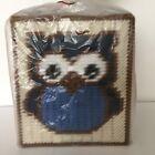 Handmade Plastic Canvas Tissue Box Cover CUTE OWL Topper Boutique NEW Gift Idea