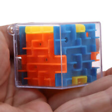 3D Cube Puzzle Maze Toy Hand Game Case Brain Game Challenge Fidget Toys New BS