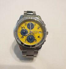 Orologio watch VINTAGE Seiko V657-9010 Quadrante Giallo Cronografo Quarzo