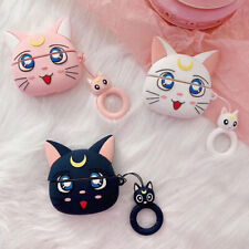 Sailor Moon Luna cat Wireless Bluetooth Earphone Case For Apple AirPods Pro