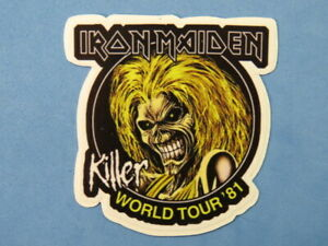 Music STICKER ~ IRON MAIDEN: English Heavy Metal Band formed in London in 1975