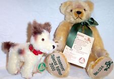 Hermann Mohair Bear with Running Dog New Limited Edition #24/200