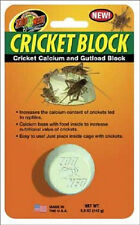 ZOO MED CRICKET BLOCK FOOD GUT LOAD CALCIUM GROUND FREE SHIPPING IN THE USA