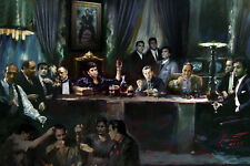 SCARFACE GODFATHER GOODFELLAS,Last Supper Giclee print on Canvas by Star