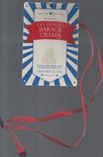 "PRESIDENT OBAMA's VISIT TO WDW 1/19/2012, DISNEY ""WORKING CAST"" BADGE & MAGAZINE"