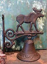 New listing Cast Iron Metal Moose Dinner Door Bell Home Garden Porch Patio Farm Yard Decor