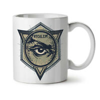 Vintage Triangle NEW White Tea Coffee Mug 11 oz | Wellcoda