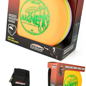 Discraft Deluxe Disc Golf Set (4 Disc and Bag)Models and plastic blends may v...