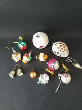 VINTAGE 1950's CHRISTMAS TREE DECORATIONS  x 14 Glass