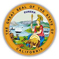 California State Seal USA Car Bumper Sticker Decal 5'' x 5''