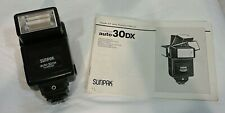 Sunpak auto30DX Flash with CA-1D Interface Unit and Manual, Used