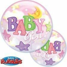 """New 22"""" Baby Girl Moon & Star Baby Shower Party Its a girl Balloon"""
