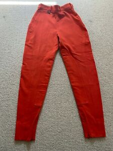 Vintage HERMES Orange Cotton-Blend Riding Pants Sz FR 38