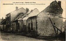 CPA MILITAIRE Bataille de la Marne-Fére Champenoise, Maisons incendiées (317090)