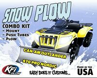 "Can-Am Outlander 570 PRO NORDIC - 2019 - KFI ATV 54"" Snow Plow Combo Kit"