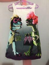 Fab Girls Designer Moschino Off White Dinosaurs Print Dress 5yrs🦖🦖