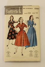 Vintage Butterick 8369 -  1950's Long Robe & Brunch Coat - Size 14 (34) - Comp