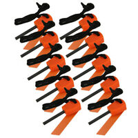 10 PCS Mini Emergency Flint Fire Starter Rod Lighter Magnesium Camping Tool Kits
