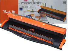Peach Binder (PB200-09) A4 Plastic Comb Document Binding Machine & 4 Hole Punch