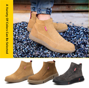 Mens Breathable Leather Welder Shoes Steel Toe Welding Work Safety Shoes Boots