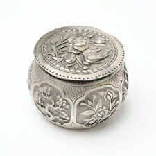 CINA INDOCHINA Scatola in argento repoussé Inizio '900 - Signed Da Fu
