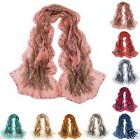 Women Ladies Fashion Pretty Long Soft Chiffon Scarf Wrap Shawl Stole Scarves