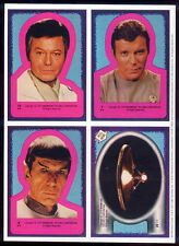 STAR TREK REPRO 1979 THE MOTION PICTURE TOPPS TRADING CARDS STICKERS X 4 NOT DVD