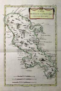 1781 Bonne Map of Martinique, West Indies