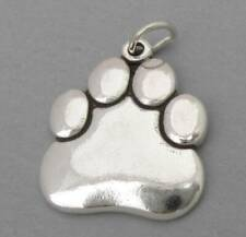 DOG CAT PAW PRINT Solid Sterling Silver .925 Charm Pendant 2514