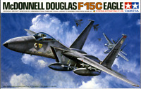 TAMIYA 1/48 Scale Model McDonnell Douglas F-15C Eagle Model Kit USAF JAPAN