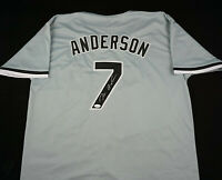 Tim Anderson Signed Autograph Gray Jersey JSA COA White Sox Great