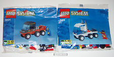 Lego 6424 Rig Racers Red & White Trucks ONLY * 2 Sealed Polybags * Chrome Pipes