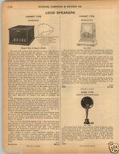 1925 PAPER AD Manhattan Armstrong Jewett Loud Speaker Horn Cabinet Type