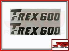 2 x Trex 600 Logo Adesivi in vinile in Nero