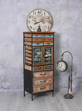 Factory Furniture Tall Cabinet Apothecary Loft with Drawers Vintage Chest of