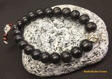 Owl Owls Tibetan Black Wood 10mm Beads Ebony Wood Meditation Prayer men Bracelet