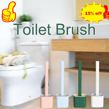 Silicone Toilet Brush with Toilet Brush Holder Cleaning Brush Abs+ Tpr