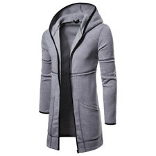 Mens Autumn Winter Jacket Coat Warm Trench Long Overcoat Casual Outwear Cardigan